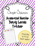 Accelerated Reader Yearly Levels Tracker