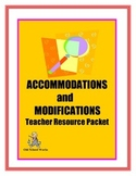 Accommodations and Modifications Teacher Resource Packet