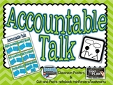 Accountable Talk Posters and Notebook Reinforces/Bookmarks