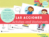 Action Verbs {Spanish printable worksheets}