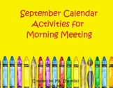 Active Inspire Flipchart September Calendar and Morning Meeting