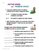 ACTIVE and PASSIVE VOICE No-prep Grammar Unit