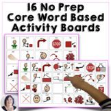 Activity-Based Communication Boards for AAC Users, for Aut
