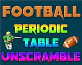 Activity: Football Periodic Table Unscramble