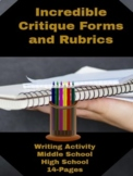 Writing Activities: Write Right! Incredible Critique Forms