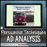 Ad Analysis PPT - Persuasive Techniques - Includes Quiz variation