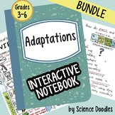 Adaptations Interactive Notebook BUNDLE by Science Doodles
