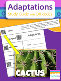 Adaptations Study Guide with QR Codes {links to photos}