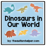 Adapted Dinosaur Book! Great for Children with Autism!