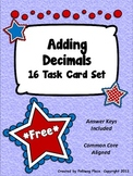 Adding Decimals Task Card Set - Patriotic Theme