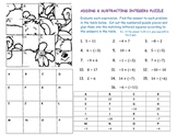 Adding & Subtracting Integers Puzzle