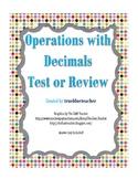 Adding, Subtracting, Multiplying & Dividing Decimals Quiz