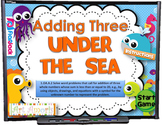 Adding Three Under the Sea Smart Board Game