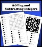 Adding and Subtracting Integers Color Worksheet