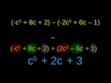 Adding and Subtracting Polynomials - Animated
