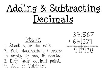 Topic 2 Math: Adding And Subtracting Decimals (5.Nbt.2.7) - Lessons ...