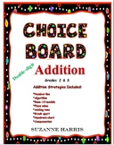 Addition Choice Board w/ Addition Strategies Posters and M