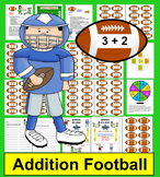 Football Addition Math Centers - Super Sunday Facts to 18