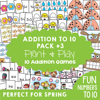 Addition Games for Spring