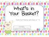"""Addition Math Facts Game- """"What's in Your Basket?"""""""