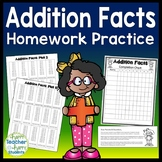 Addition and Subtraction Math Facts Homework Practice with