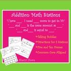 Addition Math Stations