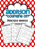 Addition Practice Sheets {Counting On}