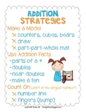 Addition Strategies Anchor Chart and Sort
