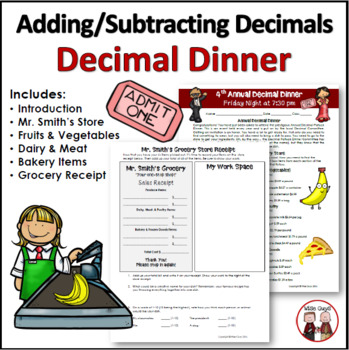 Addition Subtraction Decimals Activity