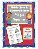 Addition & Subtraction Math Puzzles / Magic Squares / Seas