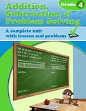 Addition, Subtraction, & Problem Solving, Grade 4