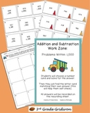 Addition-Subtraction Work Zone: Problems Within 1,000