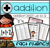 Addition Timed Tests 0-12 Print N' Go!