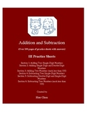 Addition and Subtraction (HI Practice Sheets)
