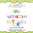 Addition and Subtraction Key Word Sort