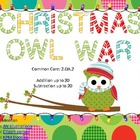 Addition and Subtraction War-Christmas Themed-Common Core