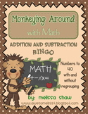 Addition and Subtraction with and without Regrouping Bingo
