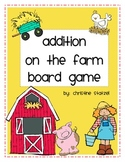 Addition on the Farm Board Game