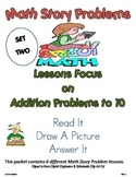 Addition to 10 Math Story Problems SET 2 .. Read It, Draw