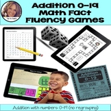 Addition with Numbers 0-19 - Math Games and Math Lesson Plans