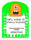 Adjectives Center Activity - Monsters Sensible and Silly A