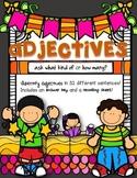 Adjectives: Sentence Strips {Set 1}