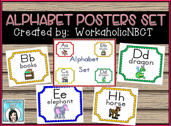 Adorable Alphabet Set for Your Classroom