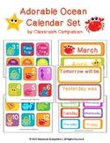 Adorable Ocean Calendar Set