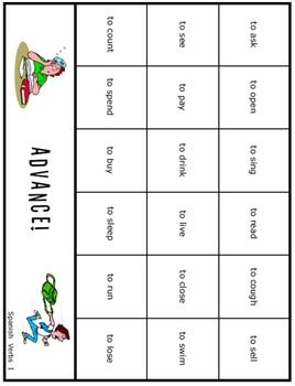 Advance!  Spanish Verbs game