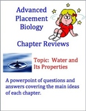 Advanced Placement (AP) Biology Review Powerpoint: Water P