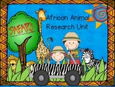 African Animal Safari Research Unit for Kindergarten