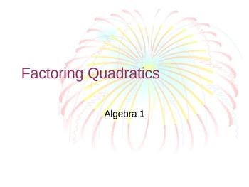 Algebra 1 - Factoring Quadratic Polynomials