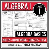 Algebra 1: Algebra Basics (Unit 1)