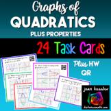 Algebra  Graphs of Quadratics  *Task Cards* Plus Quiz